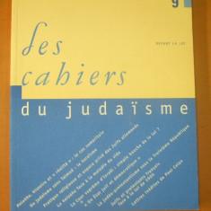 Les cahiers du judaisme nr. 9 / 2001 - Carti Iudaism