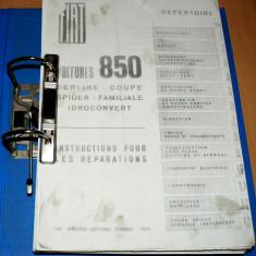 Manual de reparatii - Fiat 850 - toate modelele - in Franceza, Manual reparatie auto