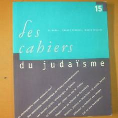 Les cahiers du judaisme nr. 15 / 2003 - Carti Iudaism