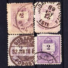 Timbre Ungaria 1898/ A3 Plic cu cifra de valoare. Dantelat 11, 1/2