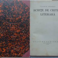 Ilarie Chendi, Schite de critica literara, 1924, prima editie