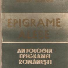 Antologia epigramei romanesti*Epigrame alese - Carte Proverbe si maxime