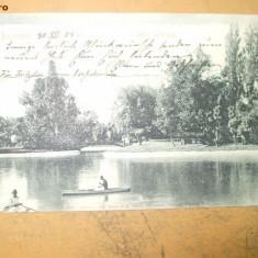 Carte postala Bucuresti Lacul Cismigiu 1904