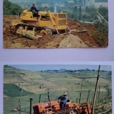 LOT 2 carti postale  tractoare FIAT carte postala tractor ilustrata