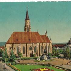Carte postala-CLUJ-Catedrala Sf Mihail - Carte postala tematica, Circulata, Printata