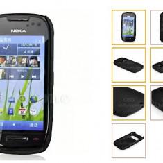 Husa mesh pentru nokia c7 silicon rigid antiradiatii + folie protectie ecran - Husa Telefon