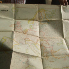 Harta Europa 1942 Scara 1 : 6.000. 000 100 x 75 cm color
