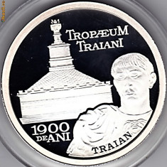 BNR 10 lei 2009,Traian, Adamclisi Constanta , argint 999  31,1 gr