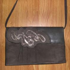 SUPER PRET ! Superba geanta vintage Aldrovandi handmade in Italy piele !