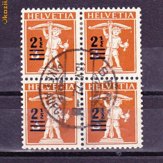 Timbre Elvetia 1909 Cu Supratipar