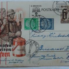Carte postala de propaganda nazista, circulata 1940