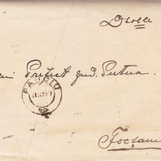 SCRISOARE EX OFO- PANCIU-FOCSANI 1907 -STAMPILA  ;  PRAA 17