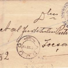 SCRISOARE EX OFO- ADJUD-FOCSANI 1908 -STAMPILA  ;  PRAA 16