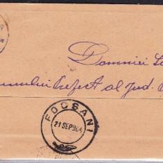 PLIC ROMANIA ;POIANA-FOCSANI 1904 -STAMPILA  ;  PRAA 11