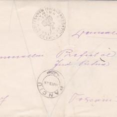 SCRISOARE EX OFO PANCIU -FOCSANI1906-STAMPILA ; PRAA 33