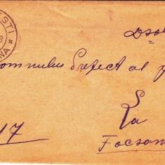 SCRISOARE EX OFO SPINESTI-FOCSANI1903-STAMPILA ; PRAA 27 - Timbre Romania