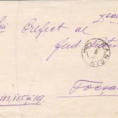 SCRISOARE EX OFO PANCIU-FOCSANI 1908-STAMPILA ; PRAA 37