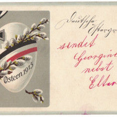 Crucea de Fier Carte Postala de Propaganda Germana 1915 - Fotografie veche
