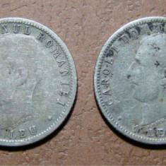 1 leu 1906 - Ambele Variante A.MICHAUX si A MICHAUX - Moneda Romania