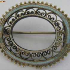 Brosa decoratie veche din argint - de colectie (2) - Brosa argint