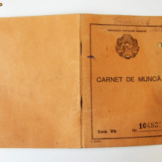 ROMANIA CARNET DE MUNCA RPR 1950 ** - Pasaport/Document, Romania de la 1950