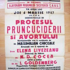 AFIS DIN 6 MARTIE 1947 ATENEUL ROMAN N D COCEA 60 x 86 cm **