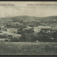 Ocnele-Mari Valcea : salinele, penitenciarul si cazarma Cuza-Voda (1925)
