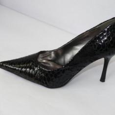 Pantofi negri, de gala - (CHIARA 8815-8 black ) - Pantof dama, Culoare: Negru, Marime: 41