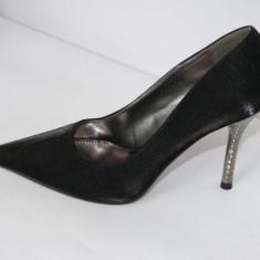 Pantofi de gala pentru femei, negri, saten - (CHIARA 759-1 black) - Pantof dama, Culoare: Negru, Marime: 40, 41