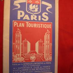 Harta Turistica a Parisului - Expozitia 1937 - Harta Frantei