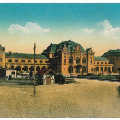 2418 - Banat, ARAD, Railway Station - old postcard - unused - Carte Postala Banat 1904-1918, Necirculata, Printata