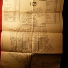 Harta Expozitiei Paris 1929