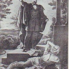 Ok-0990- Romania, Abrud, c.p.necirc. 1923: Poetul revolutionar Andrei Muresanu, Necirculata, Fotografie