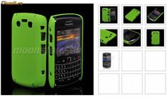 husa silicon rigid verde antiradiatii blakberry 9700 mesh + folie ecran