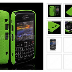 Husa silicon rigid verde antiradiatii blakberry 9700 mesh + folie ecran - Husa Telefon Blackberry