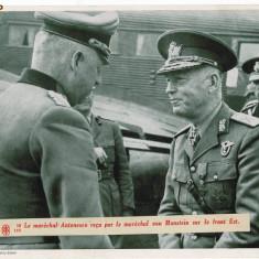 869 - Maresalul Ion ANTONESCU si Feldmaresalul Erich von MANSTEIN - 1941 - Carte postala tematica, Necirculata, Fotografie