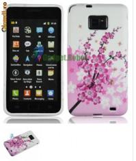husa florala SAMSUNG GALAXY 2  i9100 + FOLIE ecran