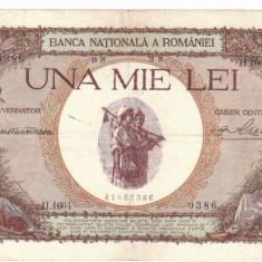 * Bancnota 1000 lei 1939 - cu overprint - Bancnota romaneasca