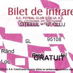 Bilet intrare fotbal Otelul - U Cluj 19.03.2010 - Bilet meci