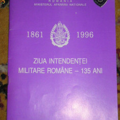 BRf - INTENDENTA ARMATEI ROMANE - 135 ANI - 1996 - REVISTA SI INSIGNA OMAGIALE