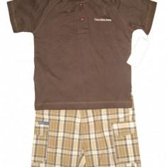 Set tricou pantaloni scurti Calvin Klein baieti 4 ani - ORIGINAL