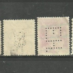 CEHOSLOVACIA, 5 timbre VECHI PERFORATE, R137 - Timbre straine, Stampilat