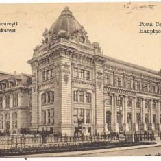 Carte postala- BUCURESTI-Posta Centrala 1918