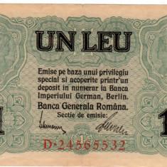 * Bancnota 1 leu BGR 1917 - Bancnota romaneasca
