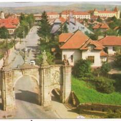 Carte postala-ALBA IULIA.-Poarta 1 a cetati. - Timbre Romania