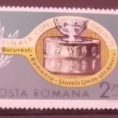 Timbre filatelice nestampilate de colectie Romania, Finala Cupei davis, 1972, LP 809 - Timbre Romania