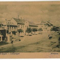 773 - Mures - REGHIN, Centrul - old postcard - used - 1916