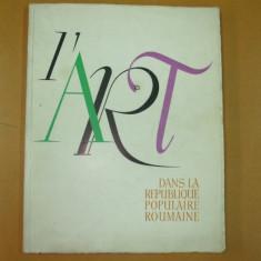L'art dans la Republique Populaire Roumaine 1959 - Album Arta