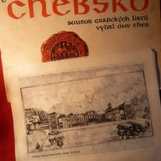 Album cu 3 Gravuri - Lucrari Grafica -  Chevsko