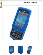 husa albastra silicon slide Blackberry Torch 9800